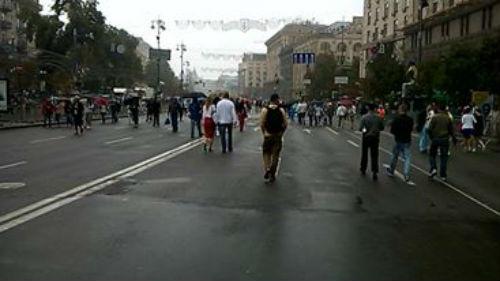 Як виглядає Хрещатик після військового параду - фото 1