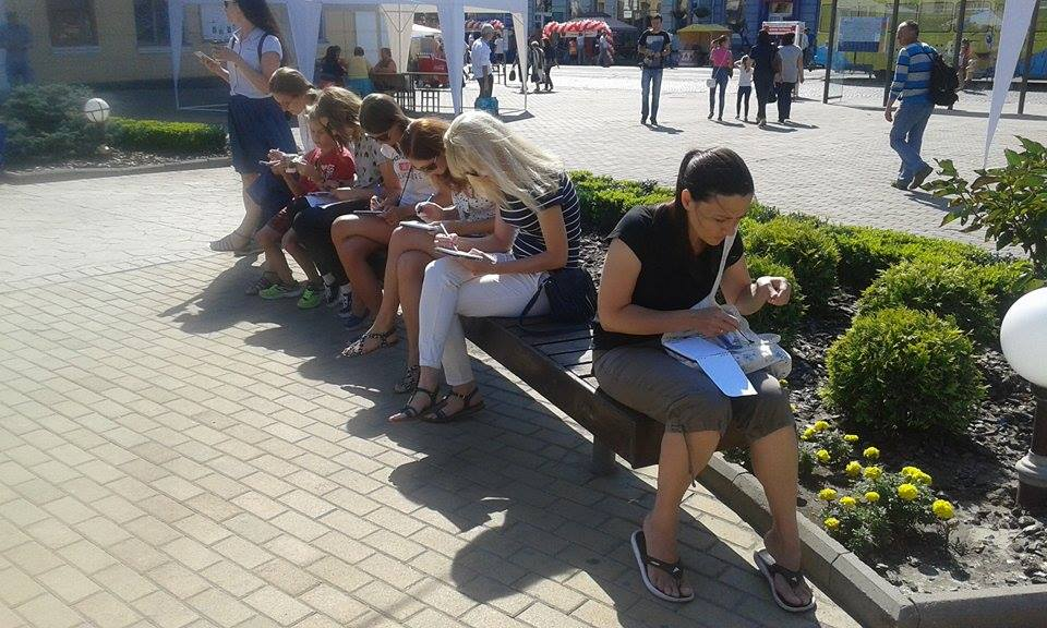 У Вінниці до дня міста скетчери влаштували марафон - фото 1
