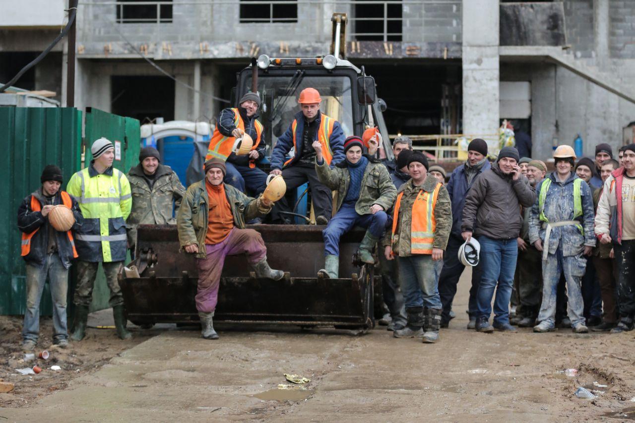 Столичні будівельники блокують забудови у знак протесту  - фото 3