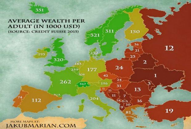 Україна - найбідніша країна Європи, - рейтинг швейцарського банку - фото 1