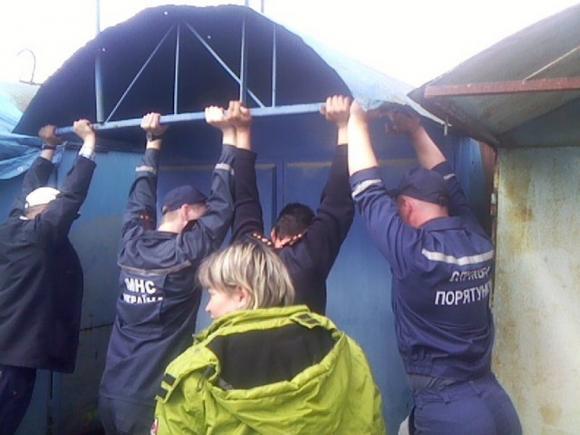 На Вінниччині рятувальники діставали з-під кіоску новонароджених цуценят - фото 1