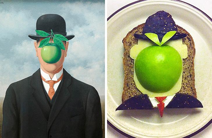 15 великих картин, які намалювали на бутербродах і з'їли - фото 9