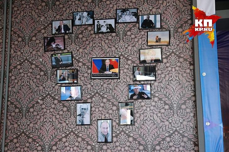 На Росії відкрили кафе Путіна: як відвідувачі плюють в постер з Обамою - фото 2
