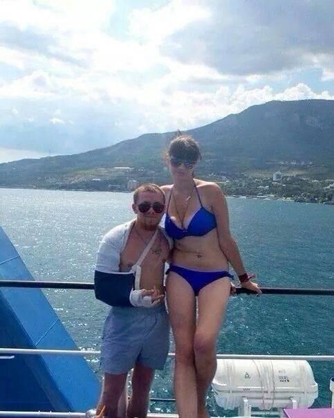 моторола с женой фото