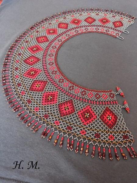 Які комірці з бісеру носили лемківські жінки - фото 8