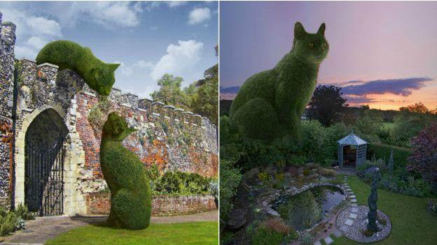 Британський художник увічнив свого кота... в кустах - фото 4