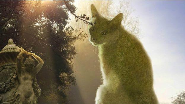 Британський художник увічнив свого кота... в кустах - фото 3