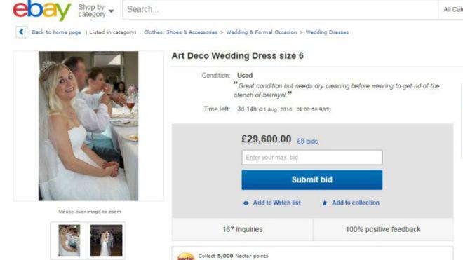 Объявление опродаже свадебного платья обманутой супруги растрогало пользователей сети