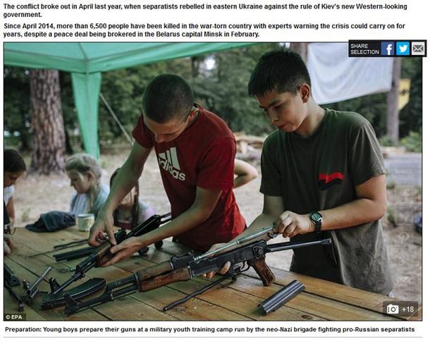 """Daily Mail назвала """"неонацистським"""" дитячий табір """"Азова"""" - фото 1"""