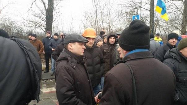 Львівські шахтарі перекрили трасу на Польщу - фото 2