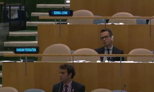 Російська делегація покинула зал Генасамблеї ООН під час виступу Порошенка - фото 2