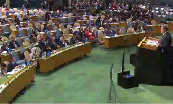 Російська делегація покинула зал Генасамблеї ООН під час виступу Порошенка - фото 1