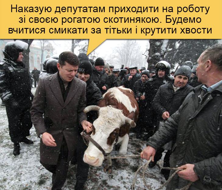 Як Ляшко змусить нардепів доїти рогатих скотиняк (ФОТОЖАБИ) - фото 2