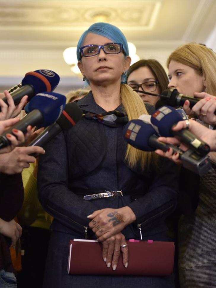 Тимошенко перефарбувалась в українські кольори та набила тату (ФОТОФАКТ) - фото 1