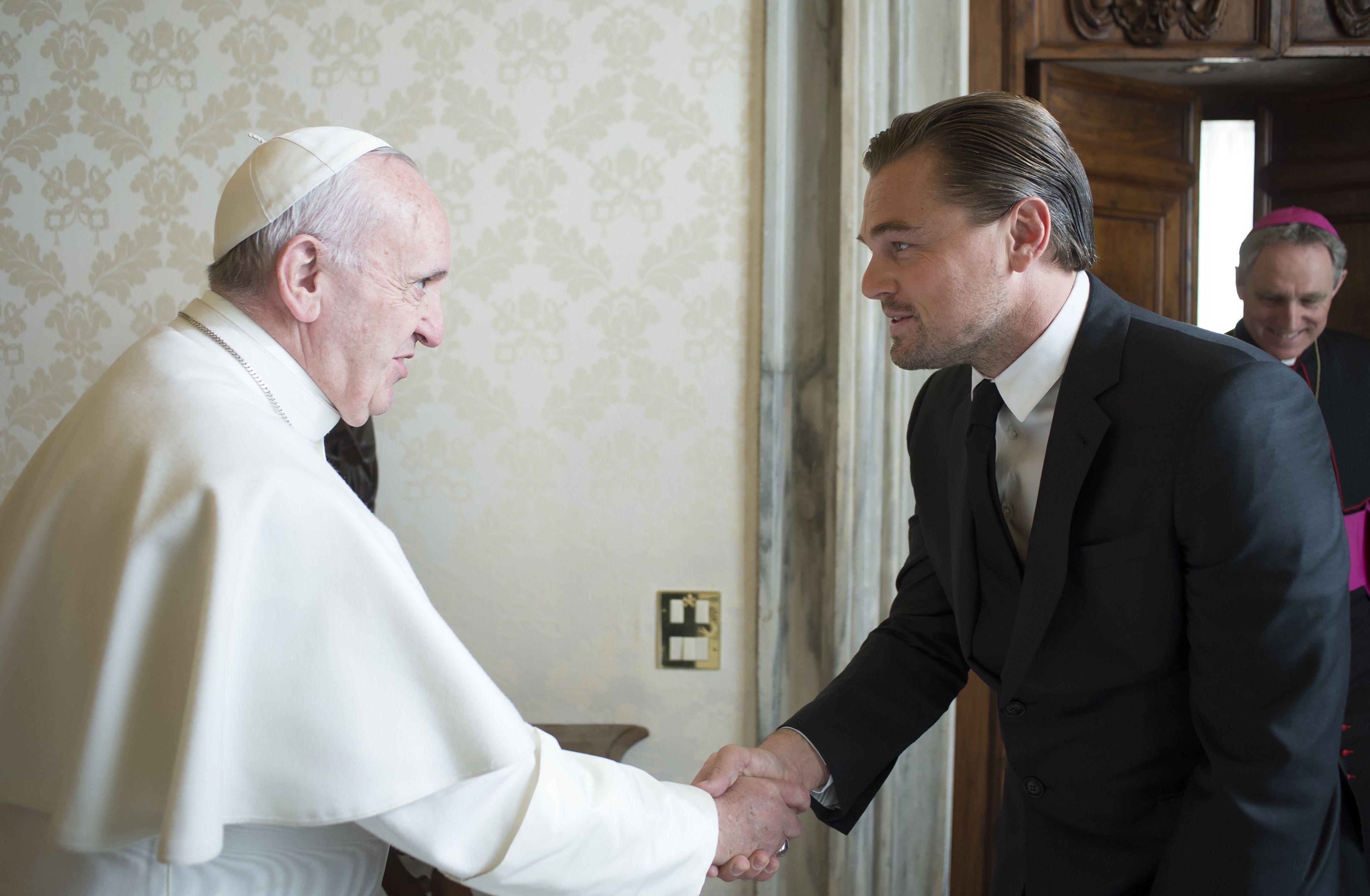 Папа Римський прийняв Леонардо Ді Капріо у Ватикані - фото 1