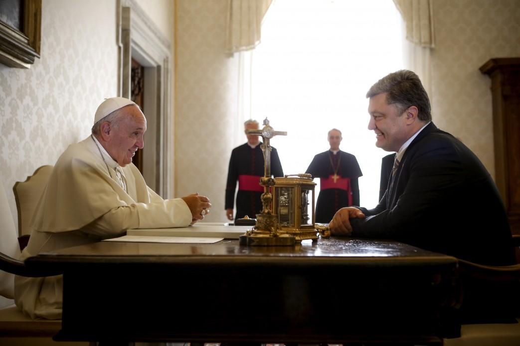 Як Порошенко зустрічався з Папою  - фото 1