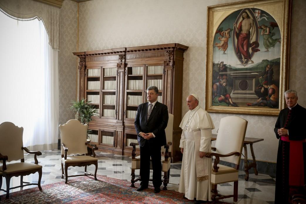 Як Порошенко зустрічався з Папою  - фото 2