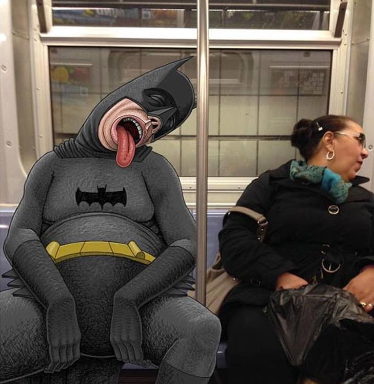 Як художник з Нью-Йорку нацьковує монстрів на пасажирів метро - фото 9