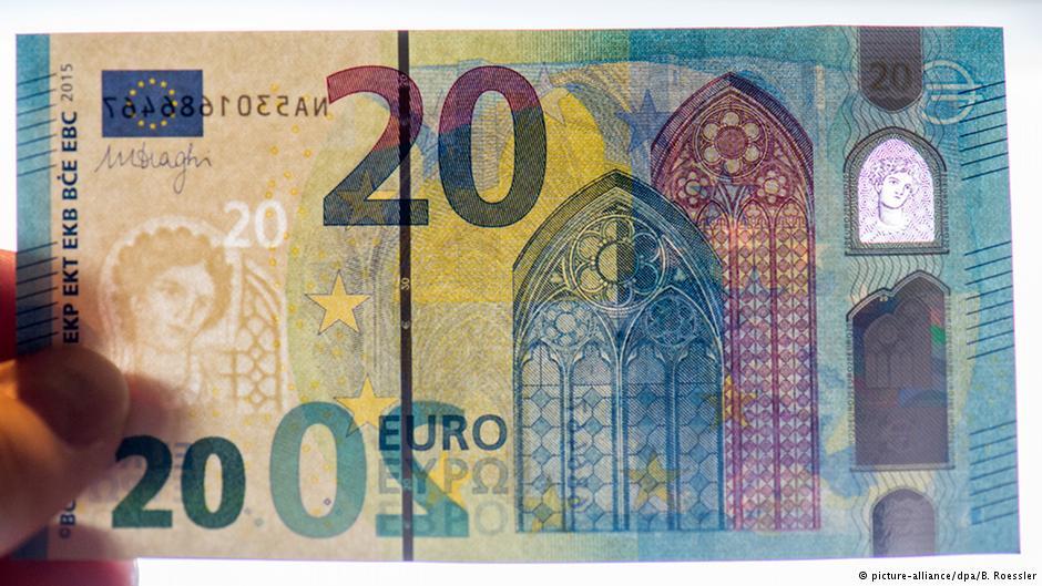 """ЄЦБ готує до обігу нову """"готичну"""" купюру 20 євро - фото 1"""