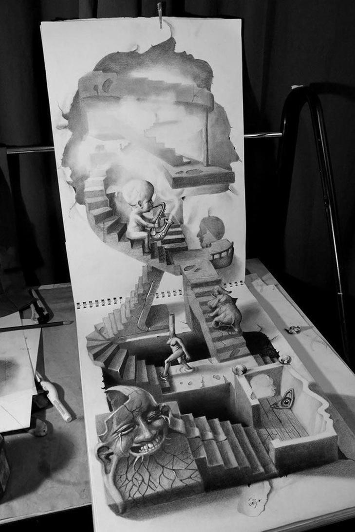 35 неймовірних 3D-малюнків олівцем - фото 12