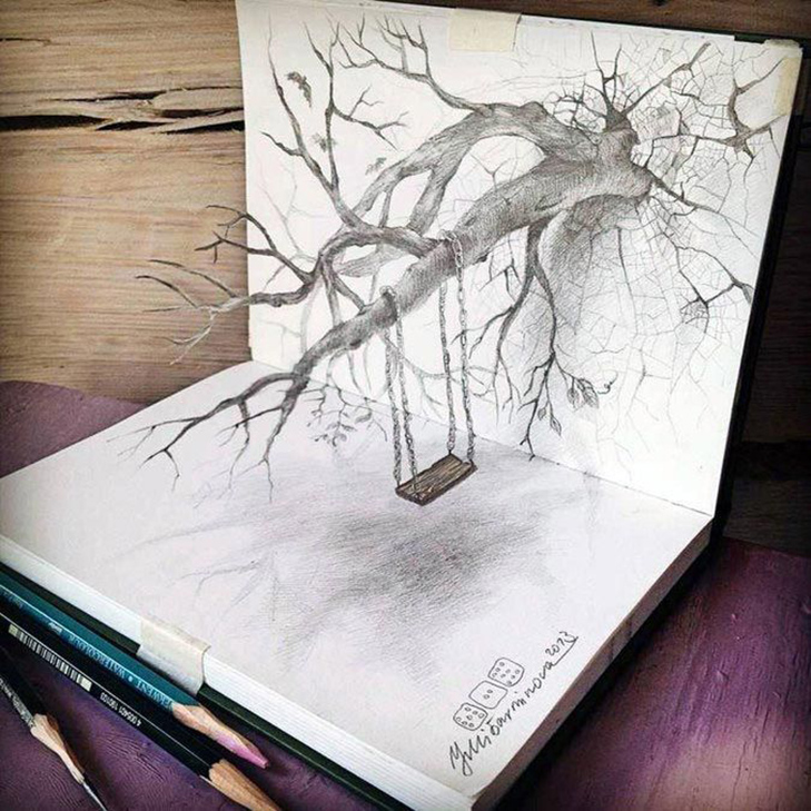 35 неймовірних 3D-малюнків олівцем - фото 2