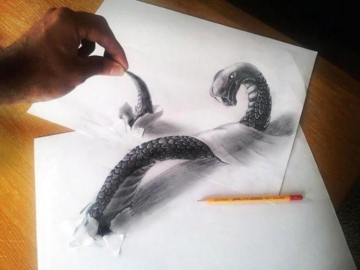 35 неймовірних 3D-малюнків олівцем - фото 7