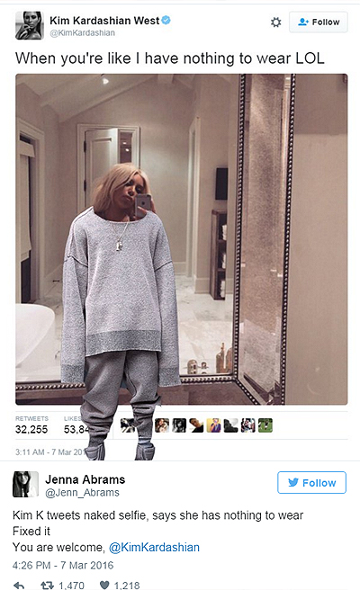 """У мережі жорстоко потролили """"голе"""" селфі Кардашіан - фото 11"""