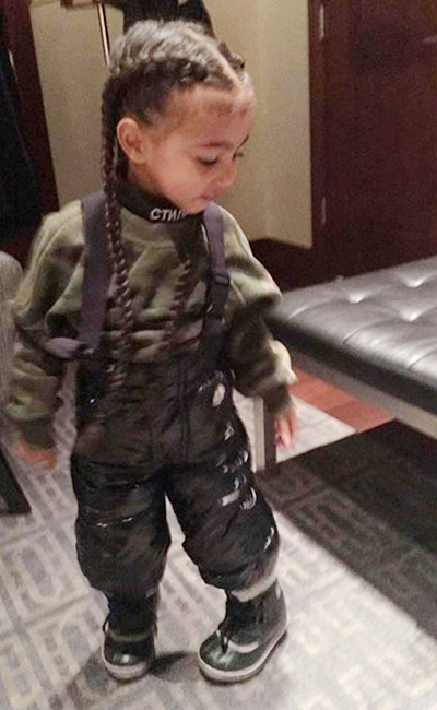 Кім Кардашіан наростила 2-річній донці купу волосся - фото 1