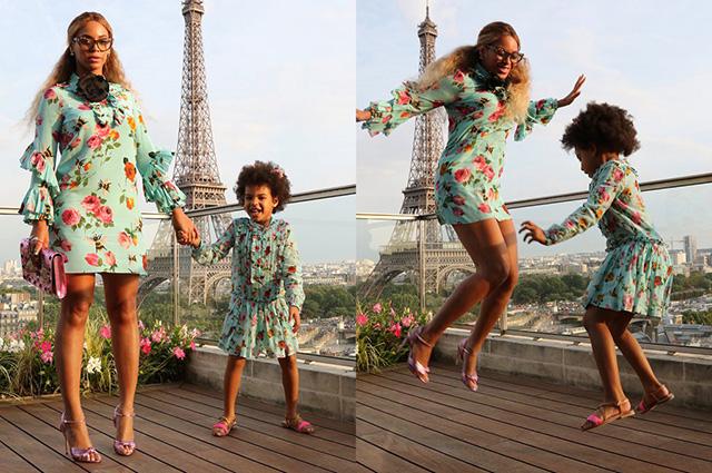 Бейонсе з донькою в однакових сукнях сфотографувалися в Парижі  - фото 1