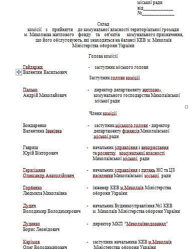 Міноборони передасть на баланс Миколаєва 10 житлових будинків