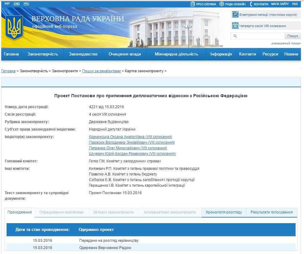 Парасюк пропонує Раді скасувати дипвідносин з Росією - фото 1