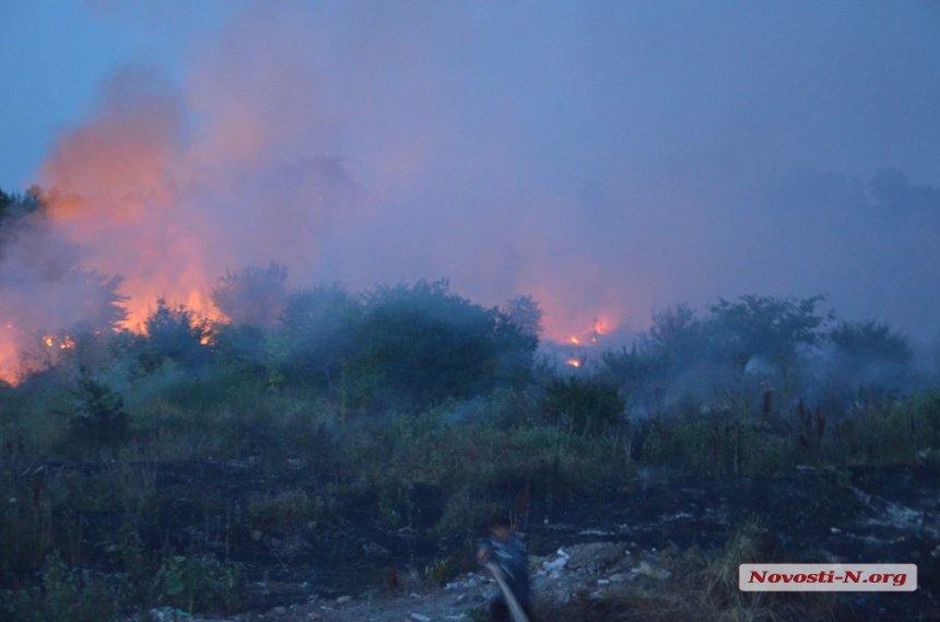 У Миколаєві загорілося сміттєзвалище. Місто потерпає від їдкого диму - фото 1