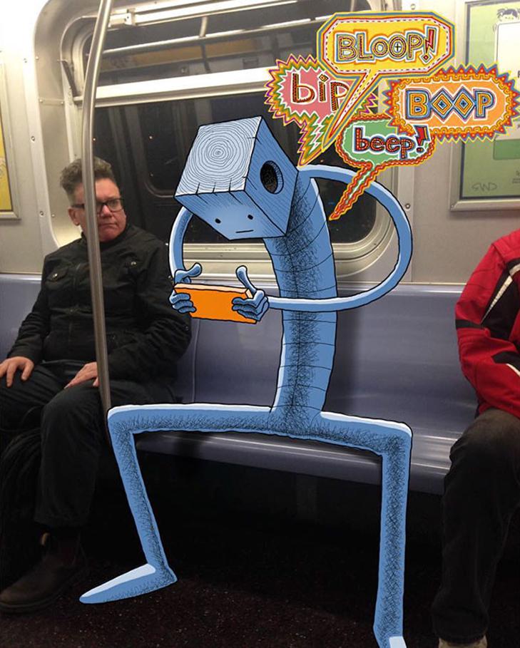 Як художник з Нью-Йорку нацьковує монстрів на пасажирів метро - фото 23