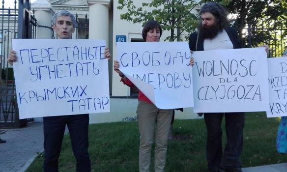 Як у Польщі пікетували на підтримку Умерова - фото 2