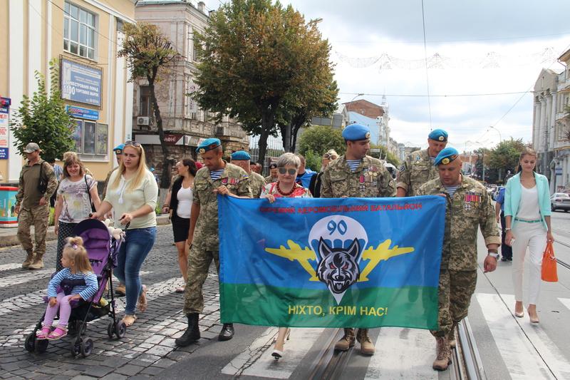 Як десантура та спецназ відзначили День ВДВ у Вінниці - фото 6