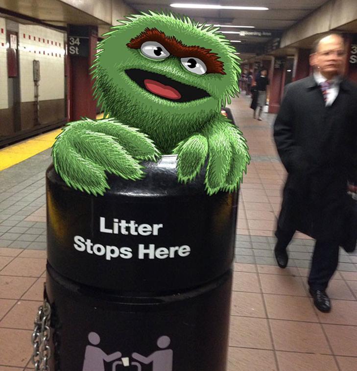 Як художник з Нью-Йорку нацьковує монстрів на пасажирів метро - фото 28