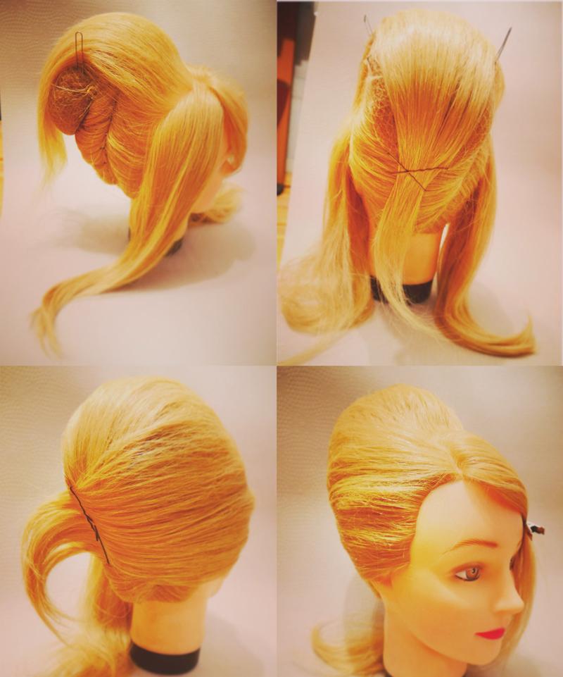 Прическа улитка на средние волосы как сделать