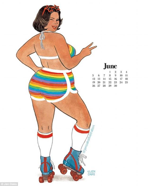Пін-ап plus-size: художниця випустила календар з пишними дівчатами в стилі 70-х - фото 10