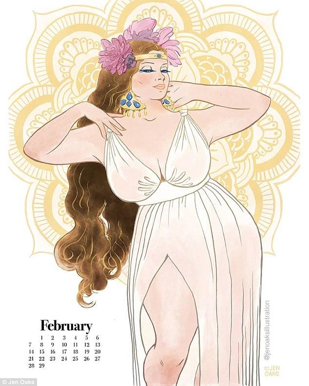 Пін-ап plus-size: художниця випустила календар з пишними дівчатами в стилі 70-х - фото 7
