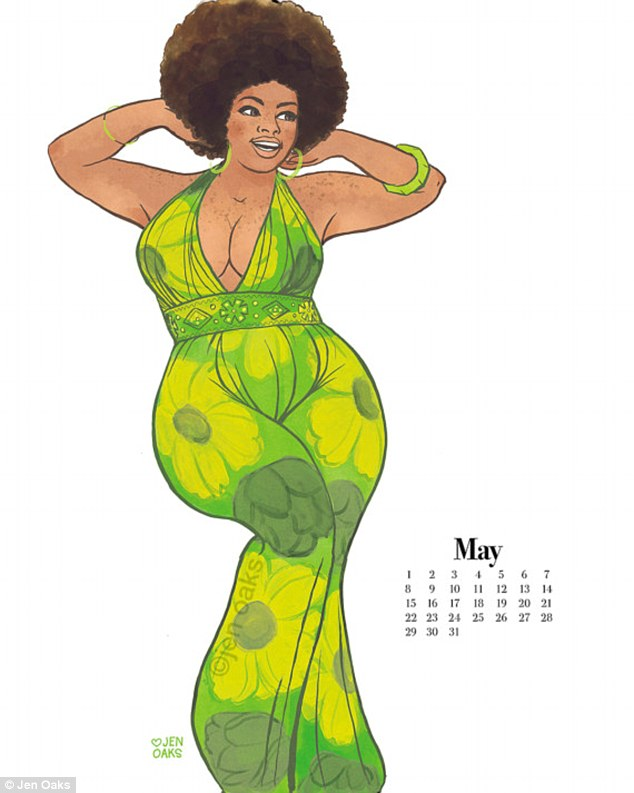 Пін-ап plus-size: художниця випустила календар з пишними дівчатами в стилі 70-х - фото 6