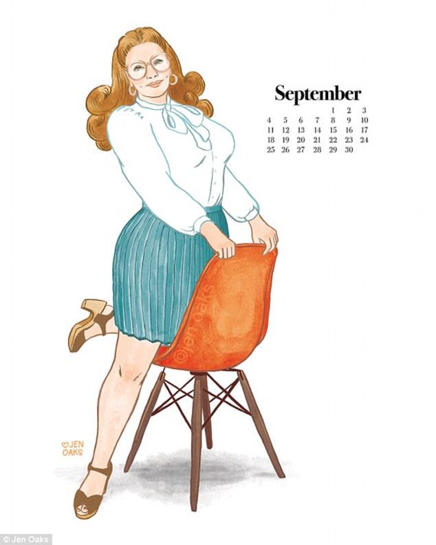 Пін-ап plus-size: художниця випустила календар з пишними дівчатами в стилі 70-х - фото 4