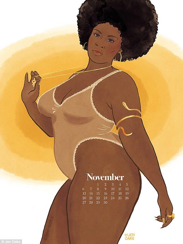 Пін-ап plus-size: художниця випустила календар з пишними дівчатами в стилі 70-х - фото 3
