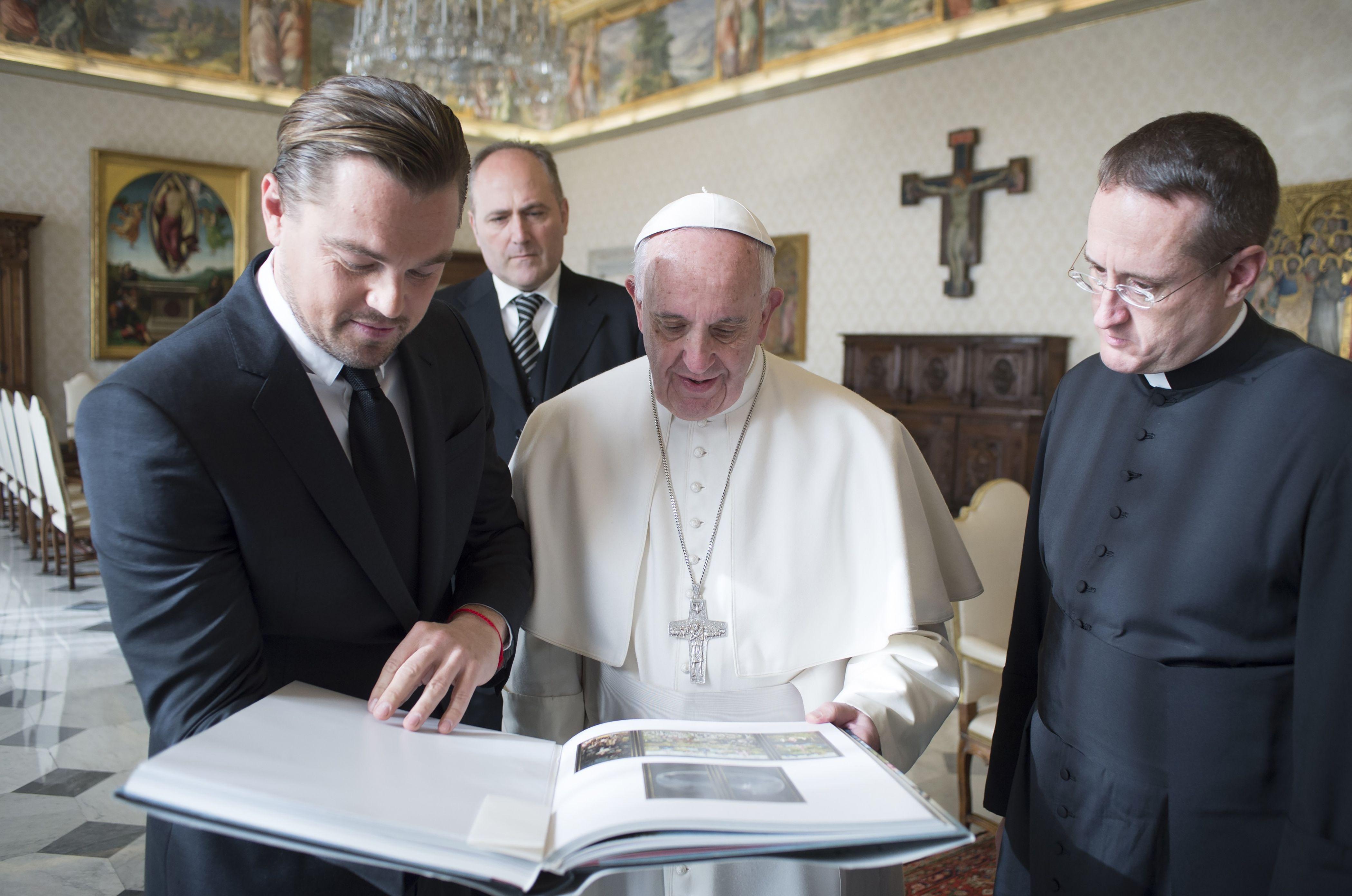 Папа Римський прийняв Леонардо Ді Капріо у Ватикані - фото 2
