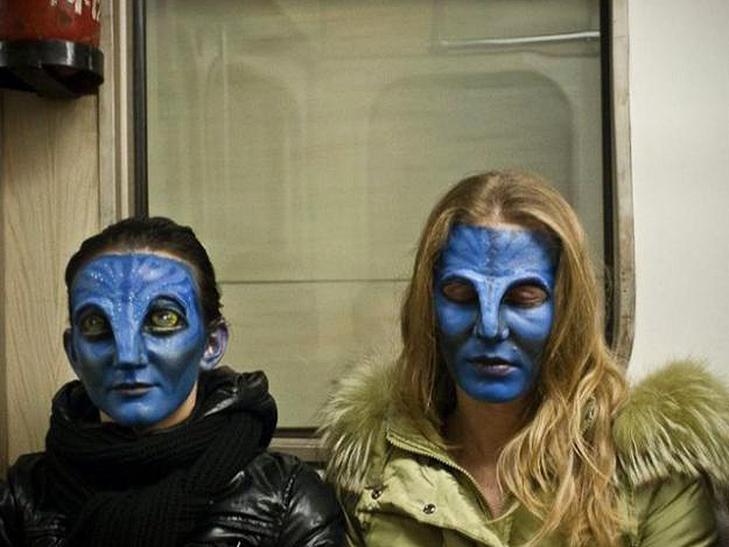 35 неймовірних диваків у метро - фото 1