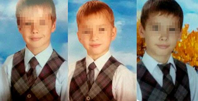три школьника делают минет