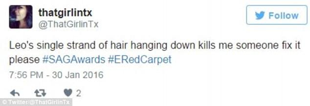 Пасмо волосся ДіКапріо, яке вибилося з зачіски на врученні SAG, підірвало мережу - фото 3