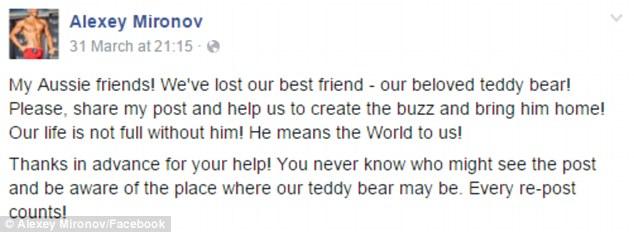 Пара з Росії пропонує $5 тис за плюшевого ведмедика, який загубився  - фото 2