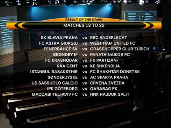 """Ліга Європи. Результати жеребкування для """"Шахтаря"""" та інших команд - фото 2"""
