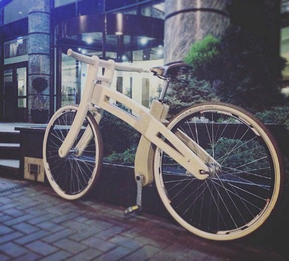 Киянин майструє унікальні дерев'яні велосипеди за $1,2 тисячі  - фото 3