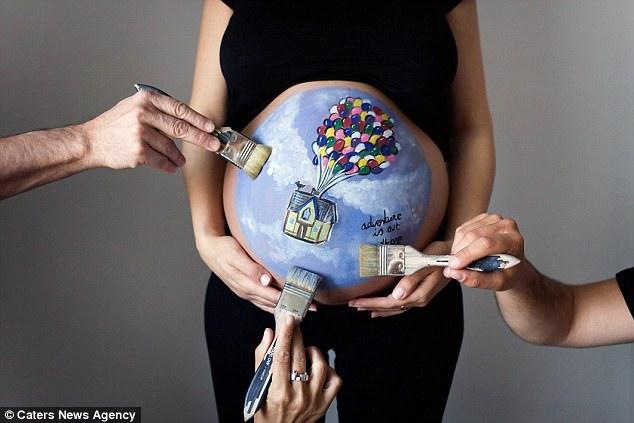 Новий тренд: вагітні шаленіють від малюнків на своєму животі - фото 4
